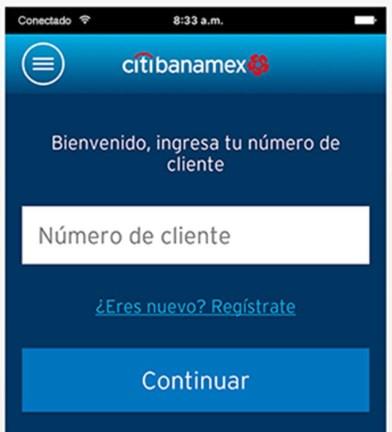 Ingrese para consultar su Clabe interbancaria Banamex desde su teléfono móvil.